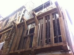 Estaban restaurando esta casa al viejo estilo de la Bretaña